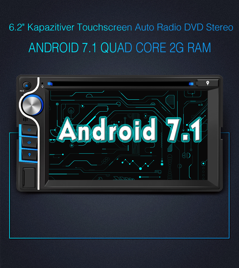 doppel din android 7 1 2gb autoradio gps navi 4g wifi dvd. Black Bedroom Furniture Sets. Home Design Ideas